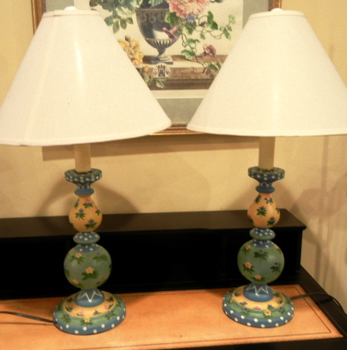 Darling Painted Lamps - pr