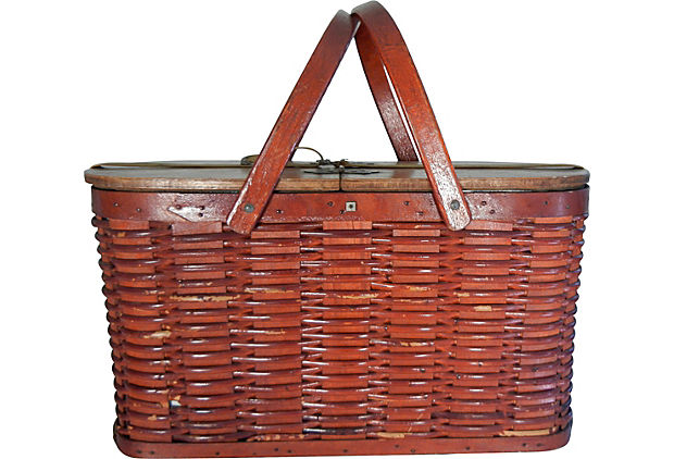 Shelton Picnic Basket with metal liner
