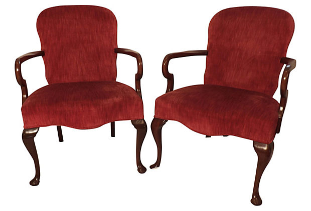 Upholstered chairs by the famous Hickory Chair co