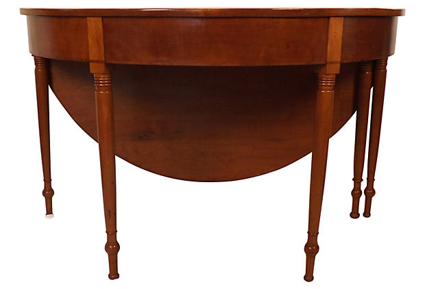 Demilune Drop Leaf Table Is Very High Quality And Opens To 48 Round