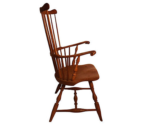 Robert Treate Hogg Comb Back Windsor Armchair Signed By Him In 1969    Vintage American Home