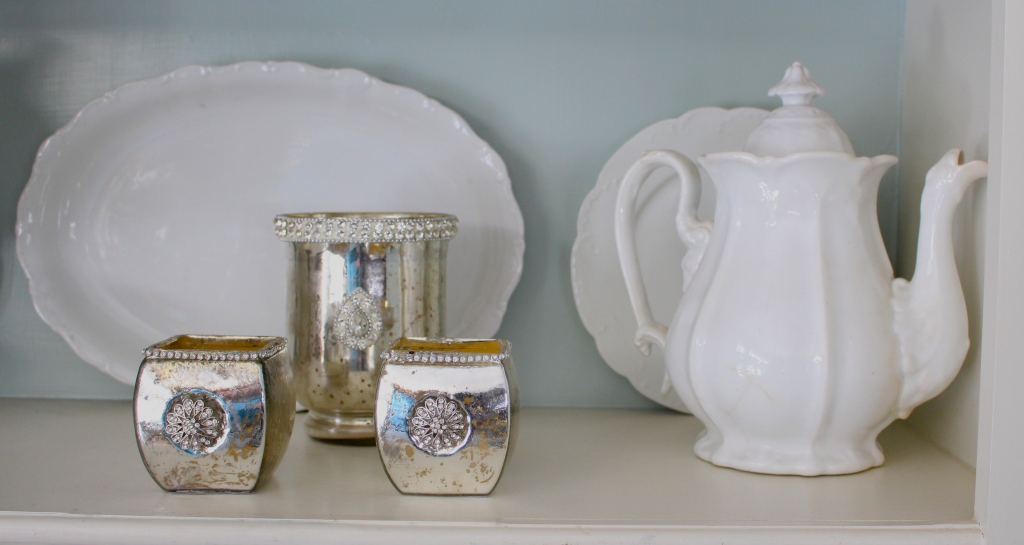 Decorating with Vintage Ironstone & Silver