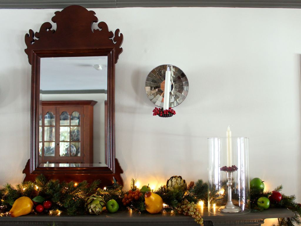 Christmas Mantle Decorating Vintage American Home
