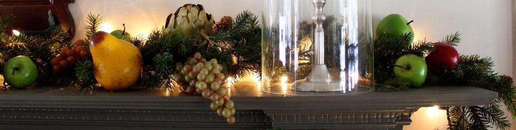 Christmas Mantle Decorating from Vintage American Home Blog