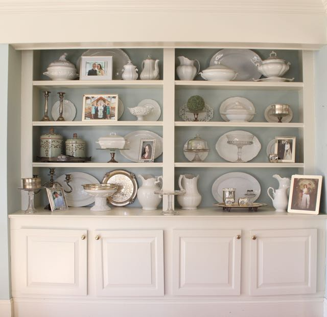 ideas for decorating shelves vintage american home