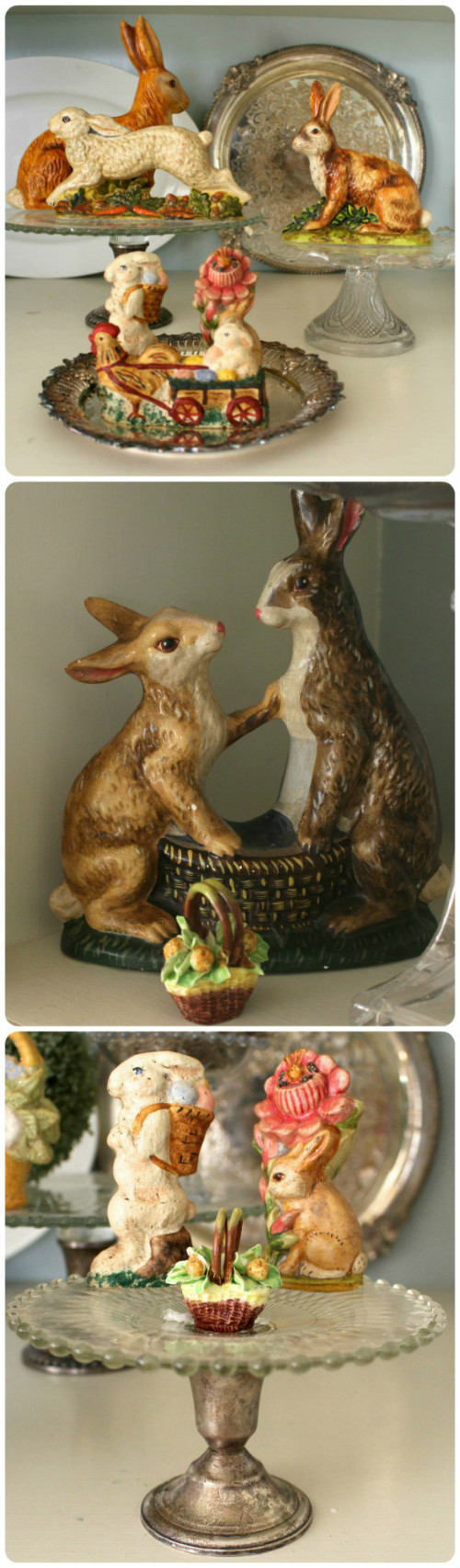 Easter bunny decorating vintage american home for Rabbit decorations home