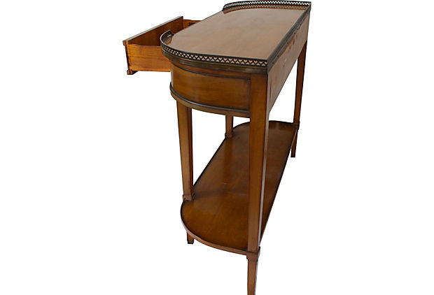 Beautiful Mahogany Sideboard Console With Brass Gallery