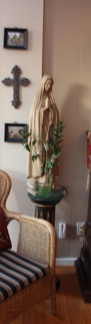 Decorating Ideas from Vintage American Home blog - Blessed Mother