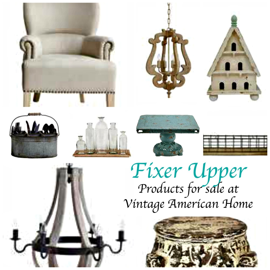 Fixer upper tv show style products now available on line for Home decor items on sale