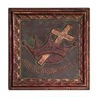 Christian Wall Plaque - religious art from Vintage American Home $20