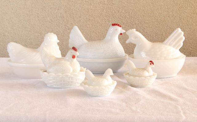 chicks on baskets