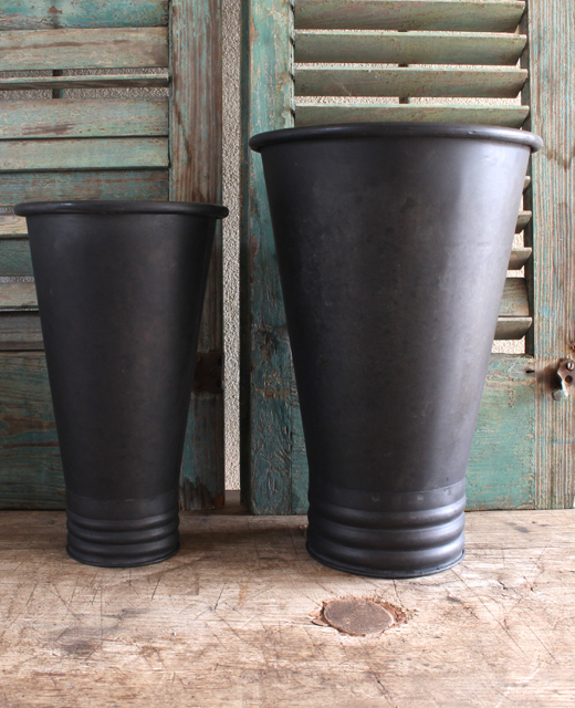 Vintage Style French flower buckets at Vintage American Home.com
