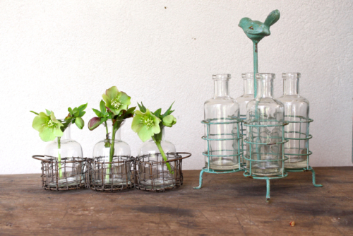 Blossom holder bottles at Vintage American Home.com