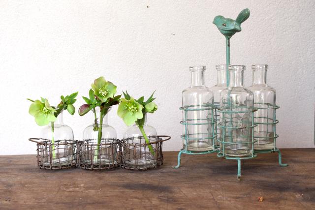 Blossom holder bottles at Vintage American Home.com
