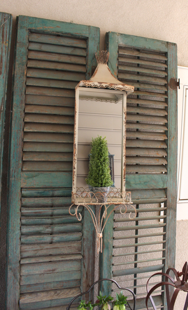Metal wall sconce with mirror for the rustic farmhouse look at Vintage American Home.com