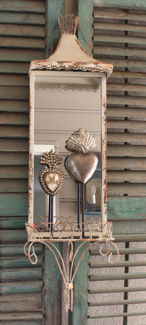 Vintage style metal wall mirror sconce at Vintage American Home.com