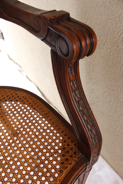 Vintage French caned chair Vintage American Home.com