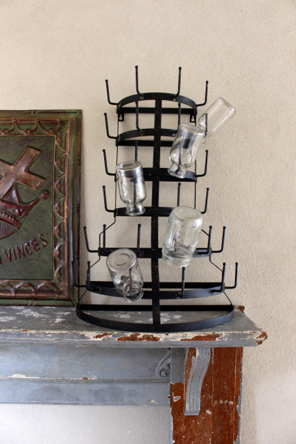 Standing Mug Rack /Bottle Drying rack can be used to hold keys or any item for storage and display- Vintage American Home.com