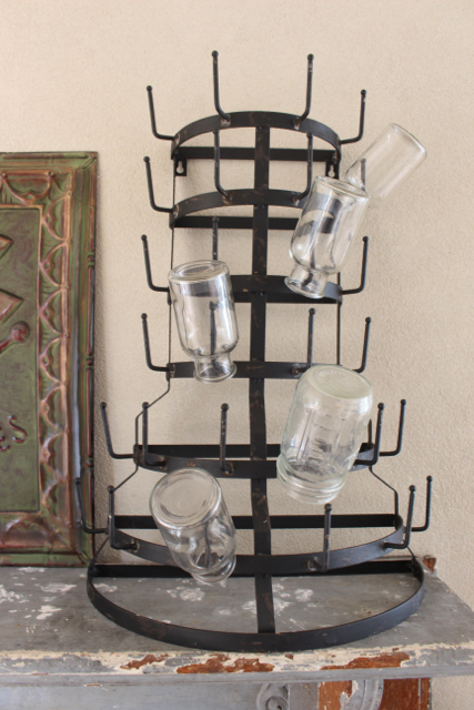 Standing Mug Rack / Get the Farmhouse look with the Bottle Drying rack or mug or key holder at Vintage American Home.com