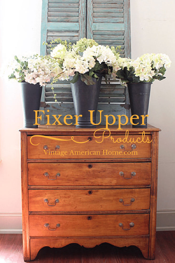 Do you love the Fixer Upper TV show? Vintage American Home has products and decorative items from the show!