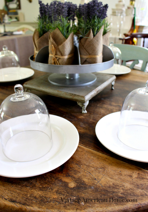 Farmhouse style table top accessories from Vintage American Home.com