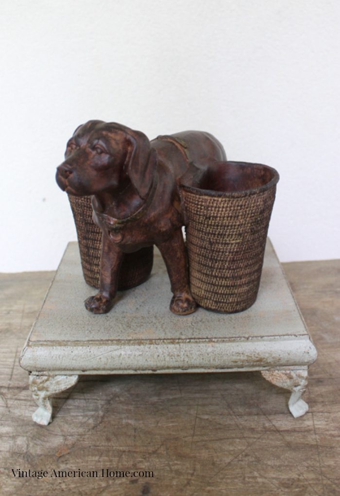 Dog Pencil Holder only $29 from Vintage American home.com
