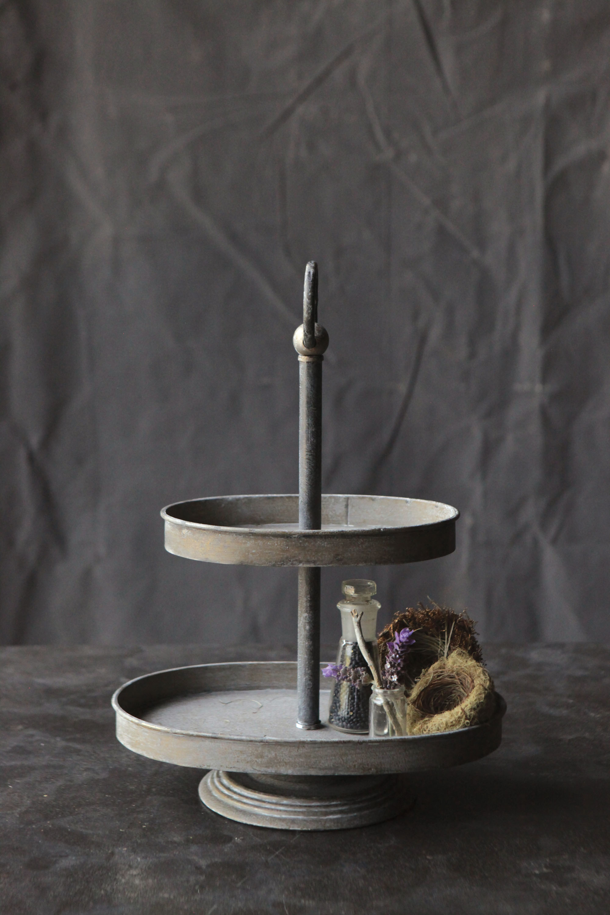 Zinc tiered Stand -