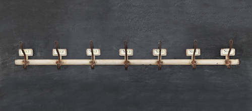 Numbered Metal Wall Hooks for the Farmhouse Look. $40