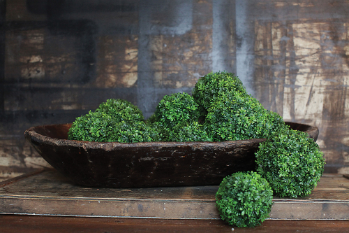 Boxwood balls for Decorating on sale at vintage American Home.com