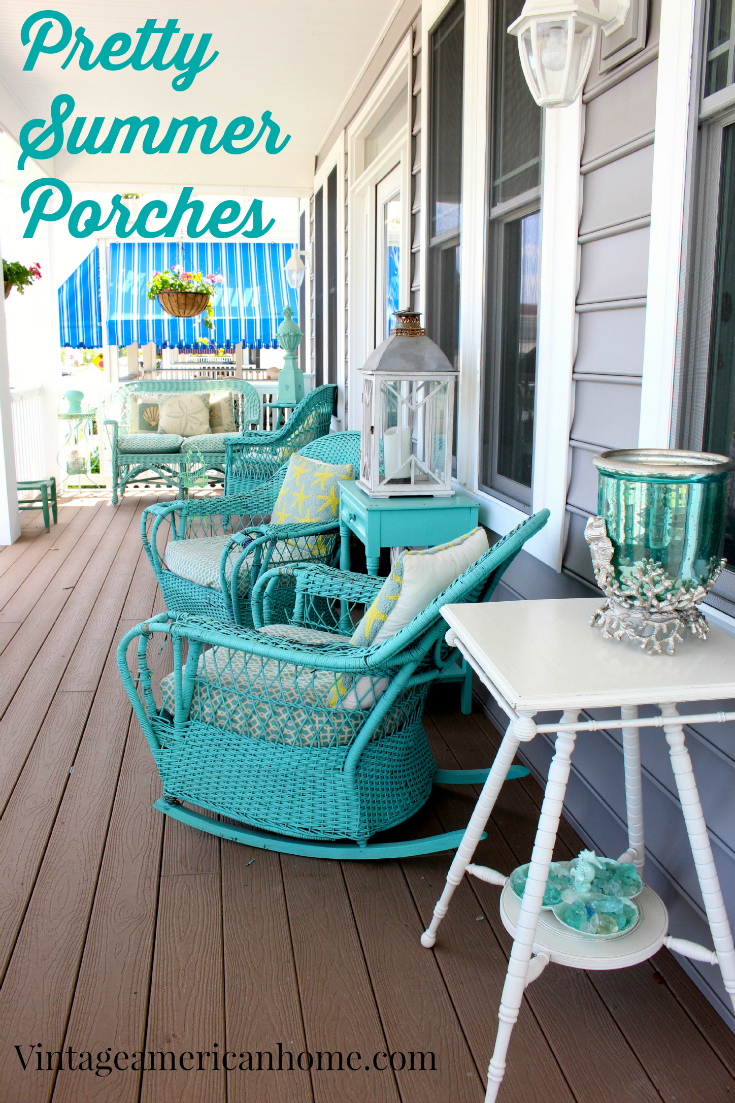 10 front porch decorating ideas vintage american home Beach patio decor ideas