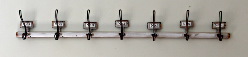 Numbered metal wall hooks for the Farmhouse Decor look