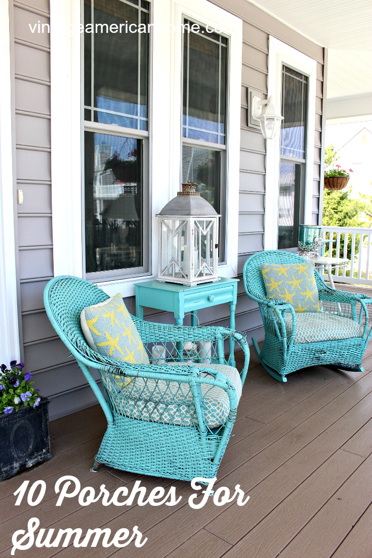 10 Front Porch Decorating Ideas Vintage American Home