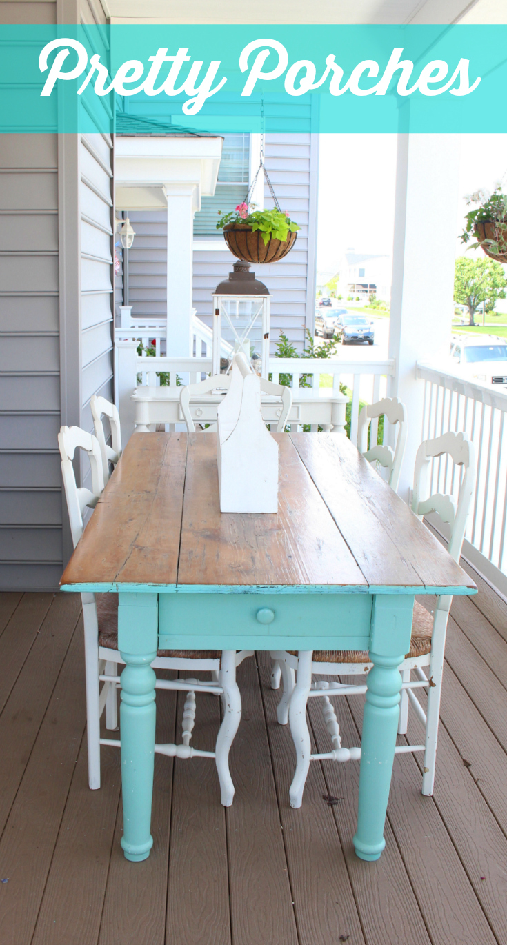 10 front porch decorating ideas vintage american home On front porch table ideas