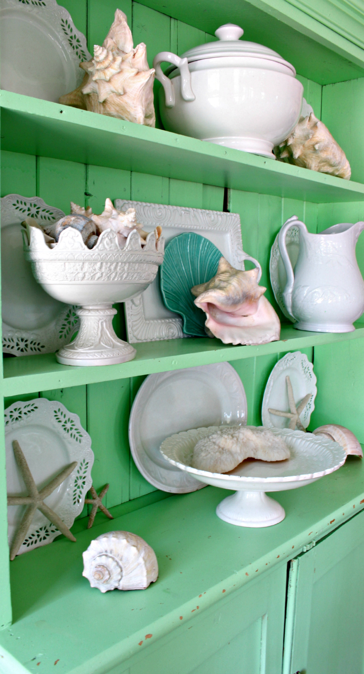 Side hutch p · Easy Beach themed decorating ideas ... & Easy Coastal u0026 Beach Decorating Ideas - Vintage American Home
