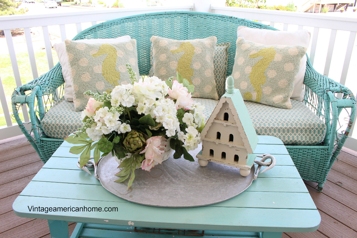 Pretty Porch Table Summer Porch Porch Decorating Ideas