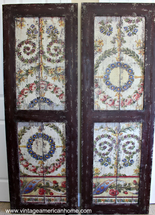 """Reproduction antique shutters to give you the """"Farmhouse style"""" look"""