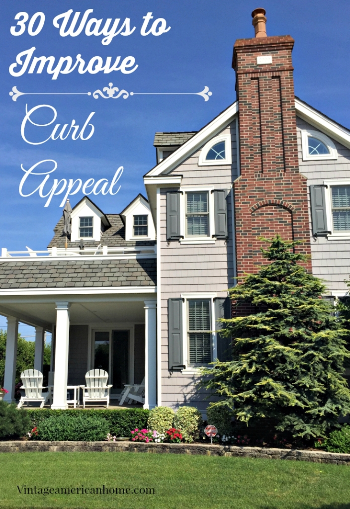 Top 30 curb appeal tricks vintage american home for Old american homes