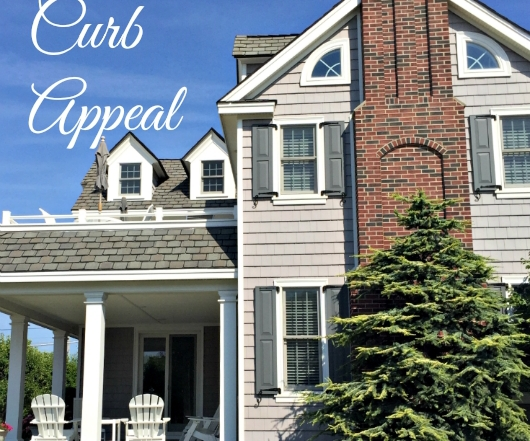 How to improve curb appeal. Ideas from Vintage American Home.