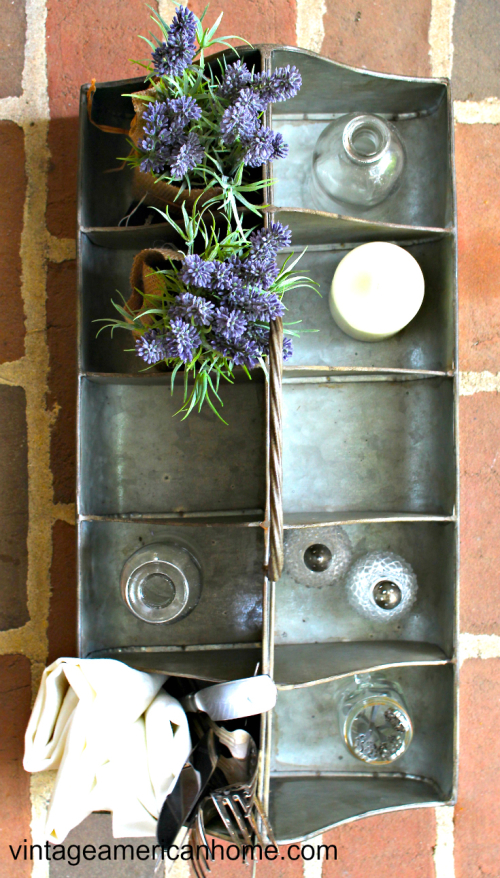 Get the Farmhouse look with products for decorating at Vintage American Home. Caddy for decorating your fixer upper