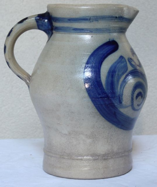 Antique Stoneware Pitcher for sale at Vintage American Home