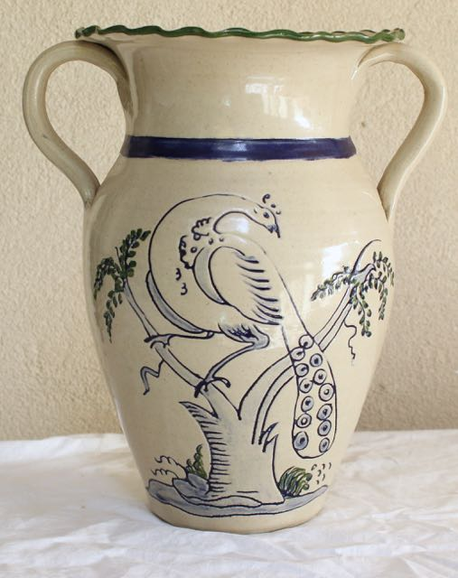 Stoneware Urn from Original Williamsburg Pottery Factory for sale at Vintage American Home