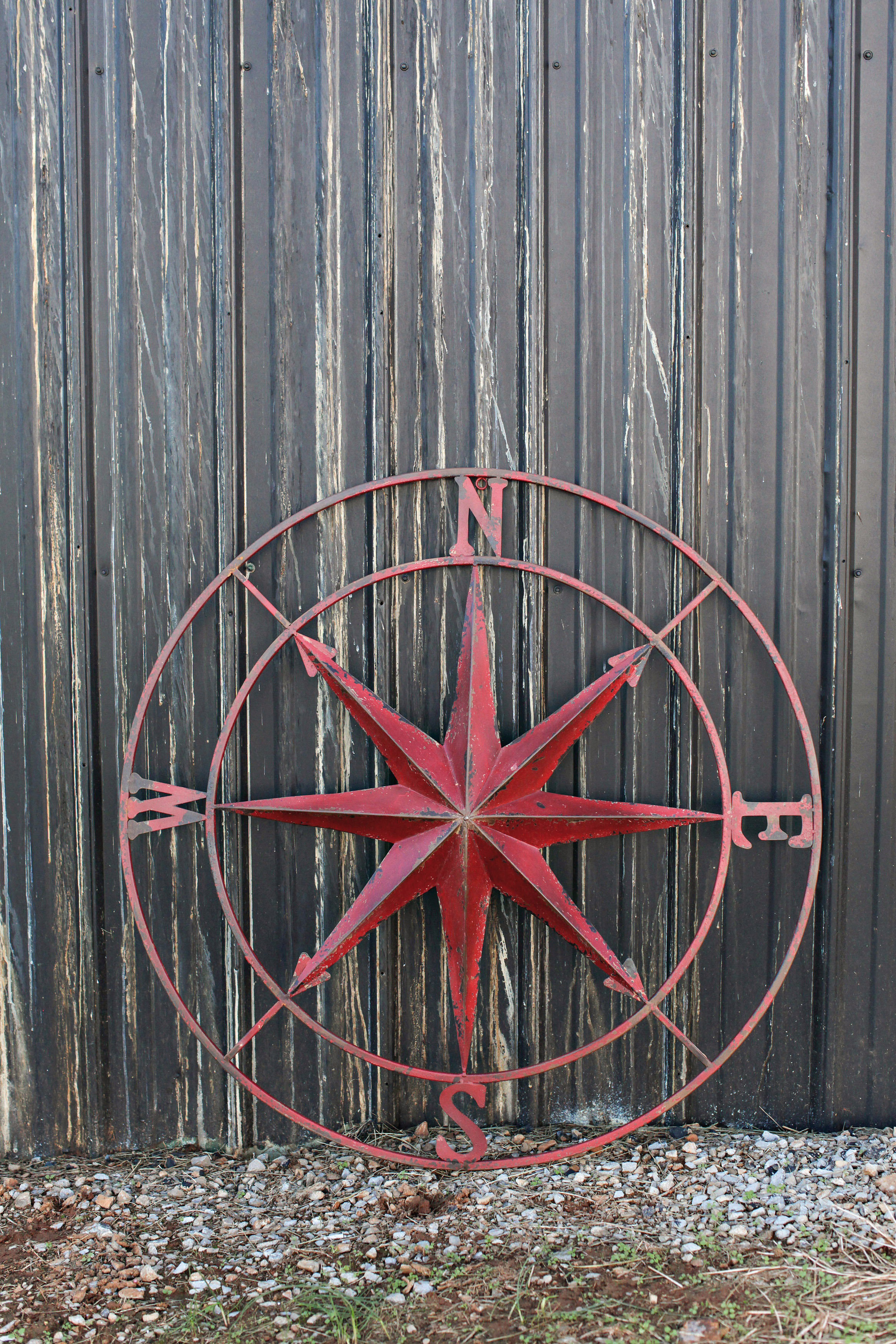 Very Large Metal Compass Rose for the urban farmhouse look for sale at Vintage American Home $150