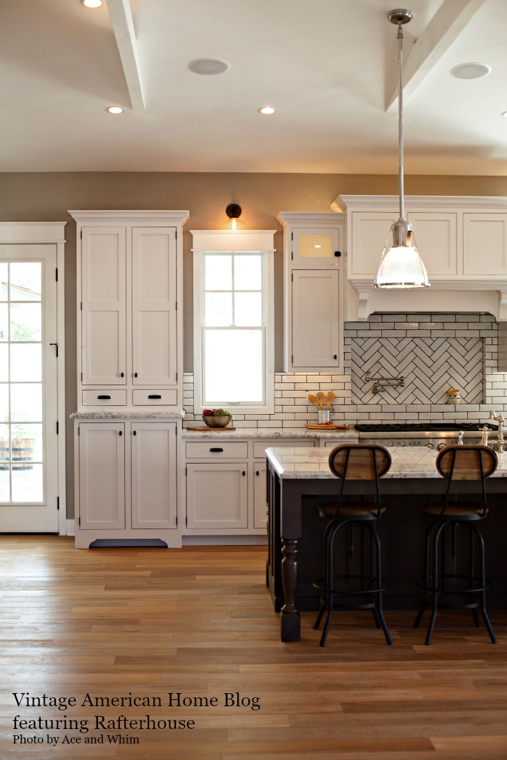 How to update your kitchen to farmhouse style new or for Farm style kitchen handles
