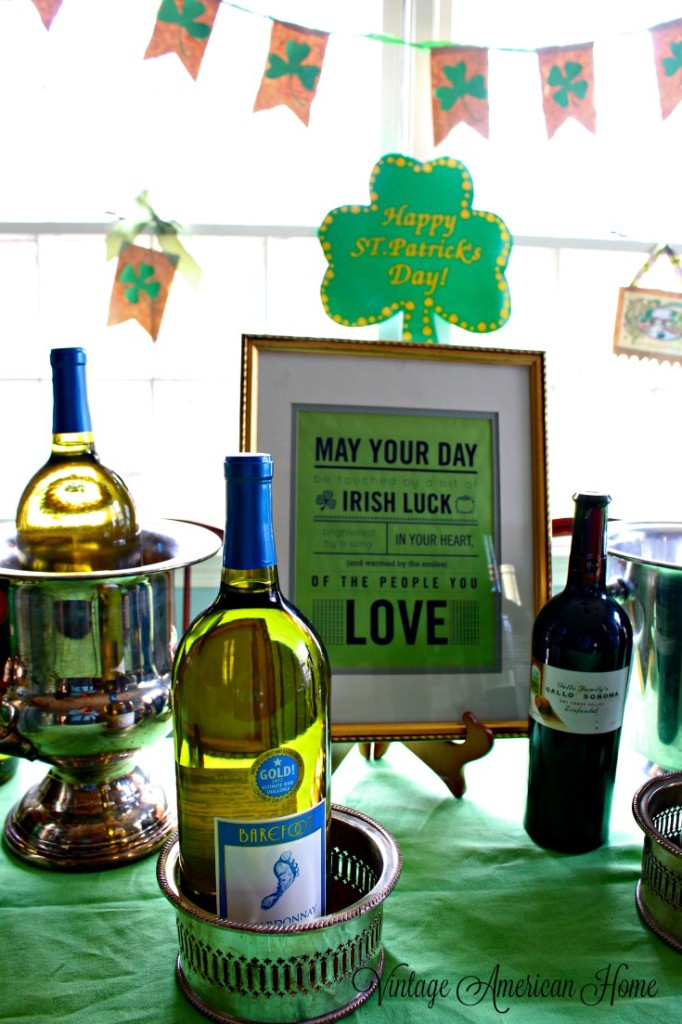 Saint Patrick's Day Party ideas from Vintage American HOme