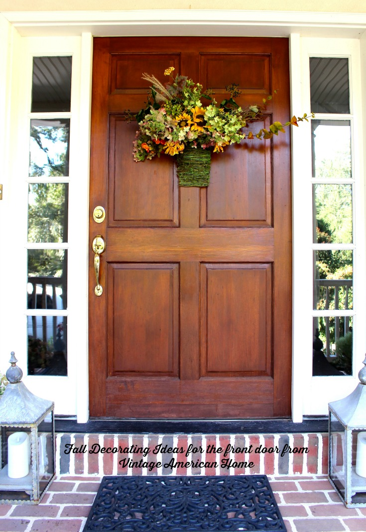 fall and autumn front door and entryway decorating ideas hydrangeas for fall for neutral fall - American Home Decorations
