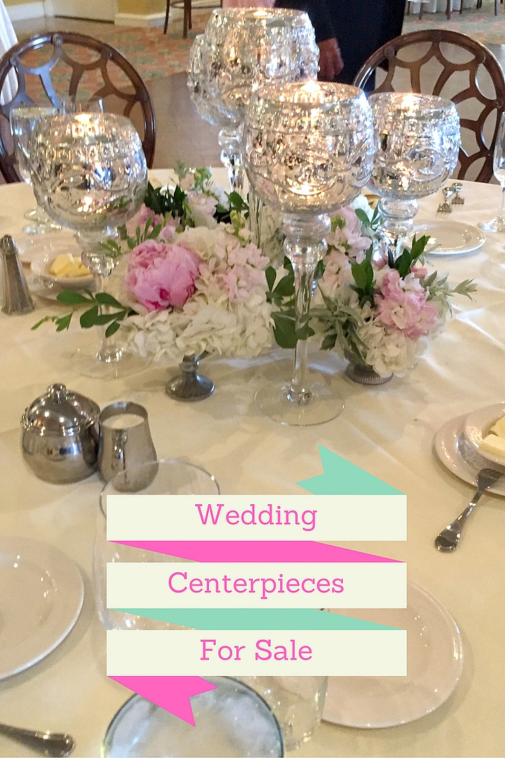 Wedding Centerpiece With Mercury Gl Goblets Votive Candles And Small Footed Containers Blush