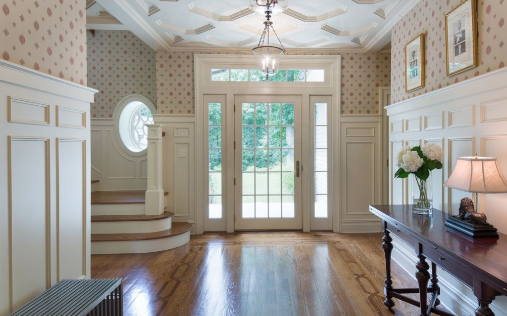 Fabulous foyer. Tour 10 Luxury Country estates with gorgeous pools, interiors and porperty at Vintage American Home