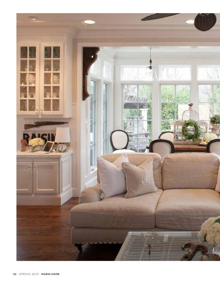 White slip covered furniture for the Farmhouse Look. 10 ideas from vintage American Home.com