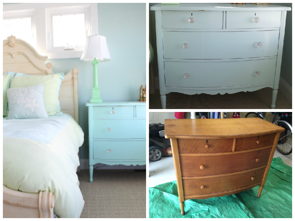 Before & After Painted Furniture from Vintage American Home.com