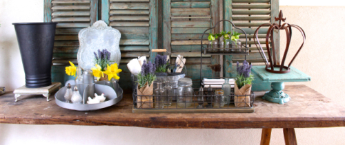 Baskets like those on Fixer Upper show for sale at Vintage American Home.com